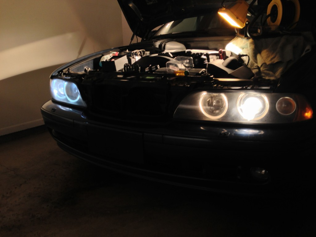 The headlights undergoing their update to 6000K lights. It really refreshes the entire appeal of the car.