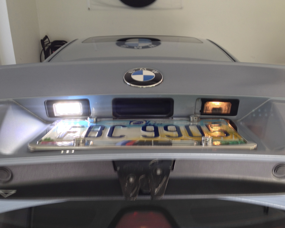 bmw e39  e38  e46 led license plate lights