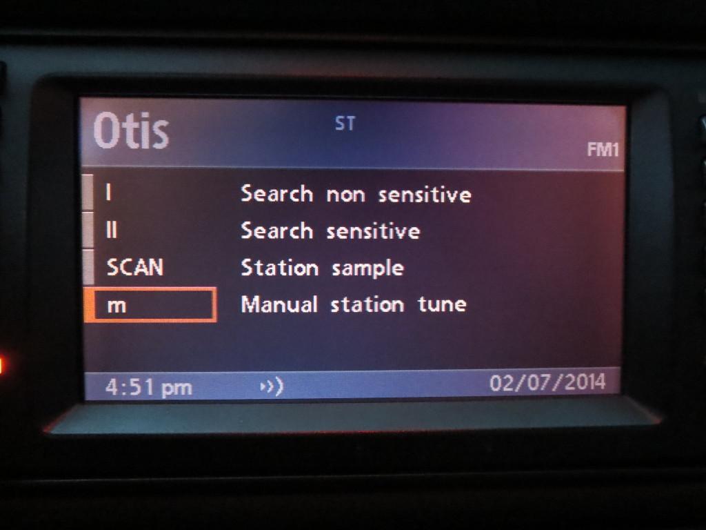 Меню радио BMW E39 bm53