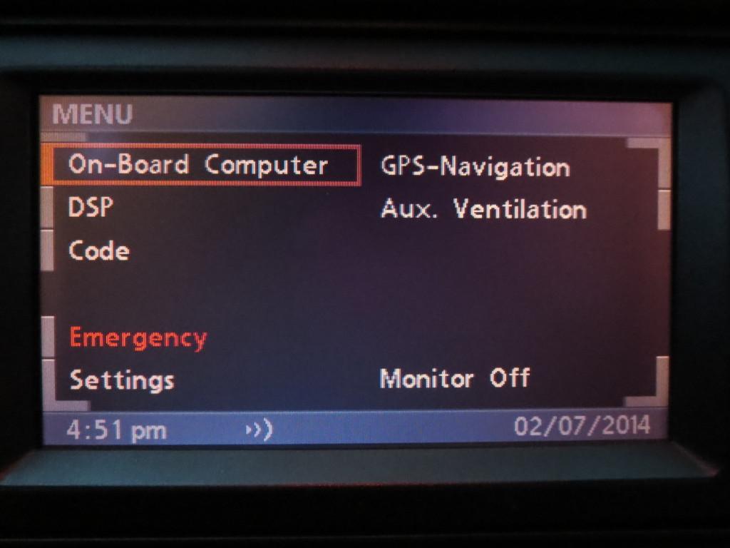 BMW MKIV 16:9 навигационный дисплей с меню MKIV